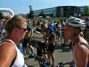 Theo Homan bij de start van Parijs-Brest-Parijs